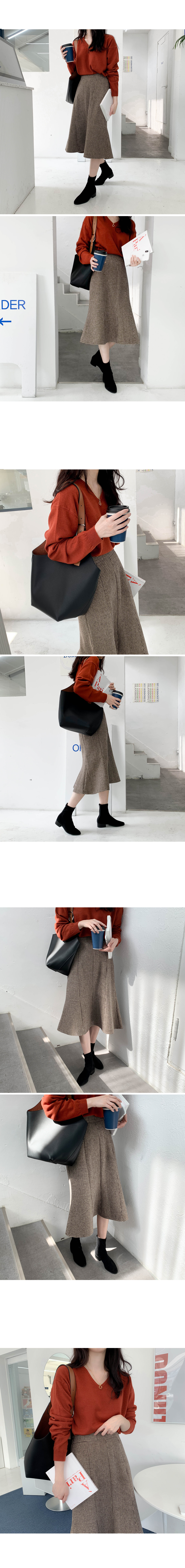 Malt Check Long Skirt