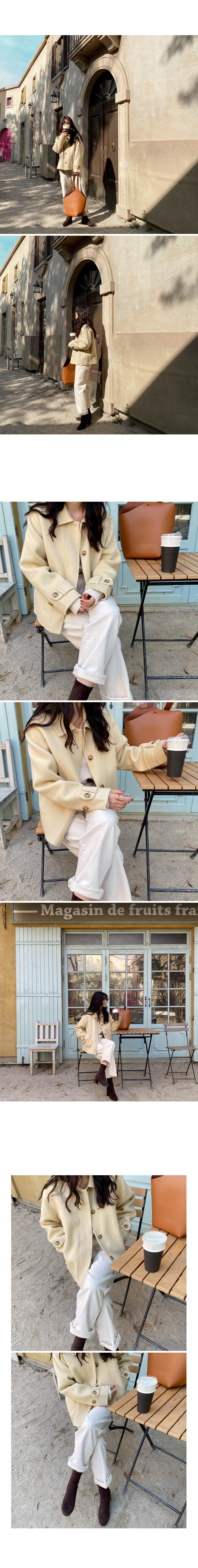 Topping handmade short coat