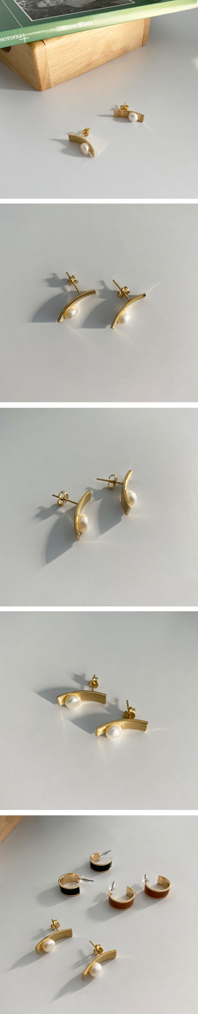 pearl square earring
