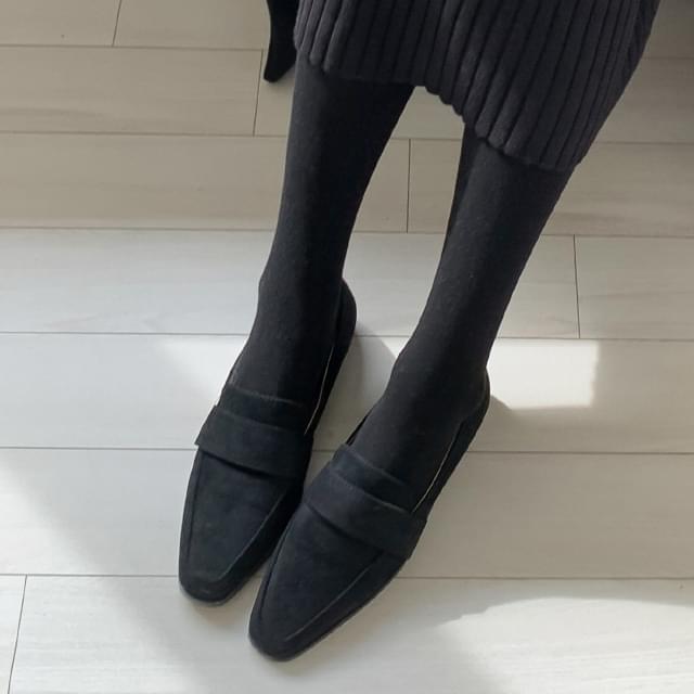 Feminine suede loafers