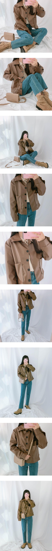 Chocolate Fake Leather Jacket