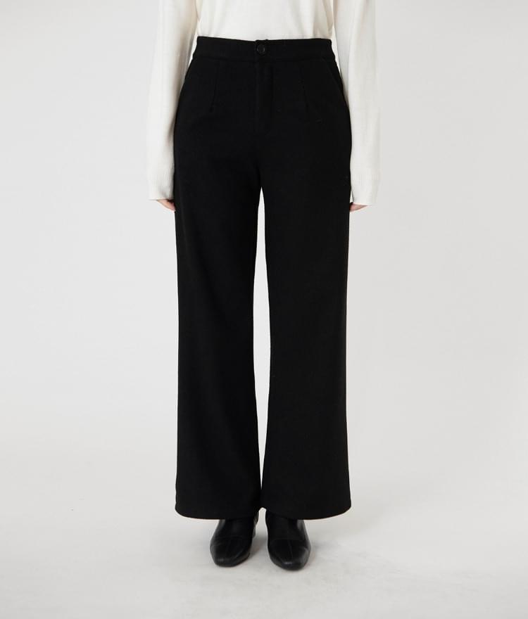 643 woolen slim wide pants