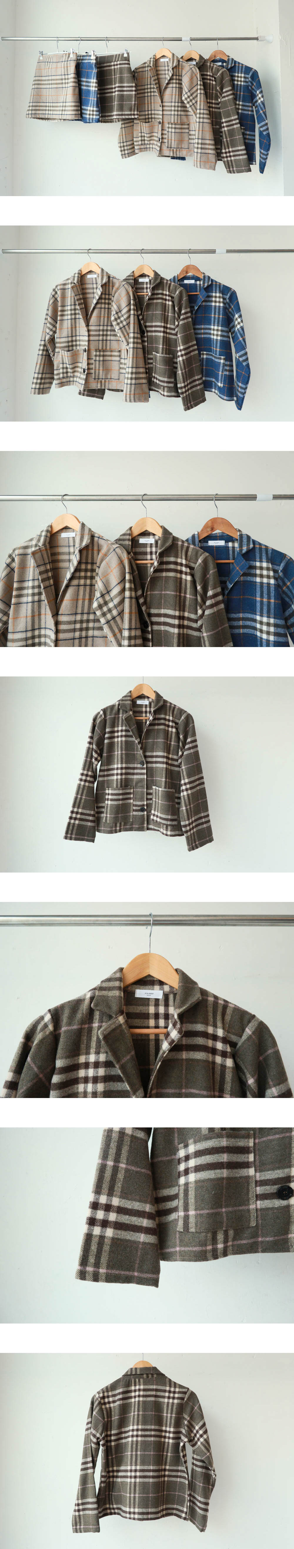 Leo check jacket (jk0071)