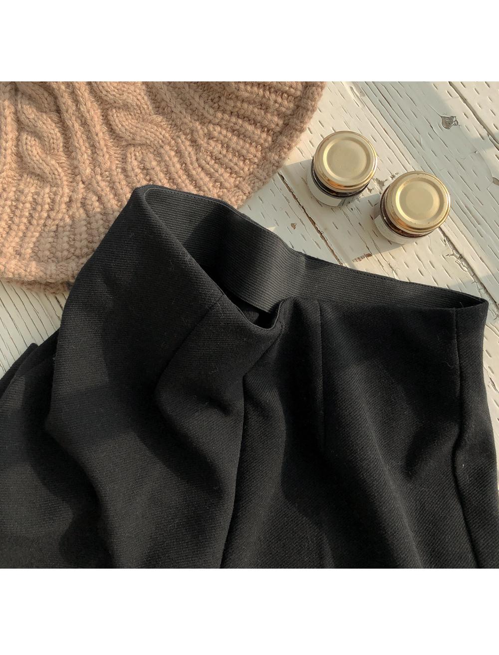 Brushed boot cut band slacks