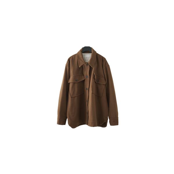 front big pocket wool jacket