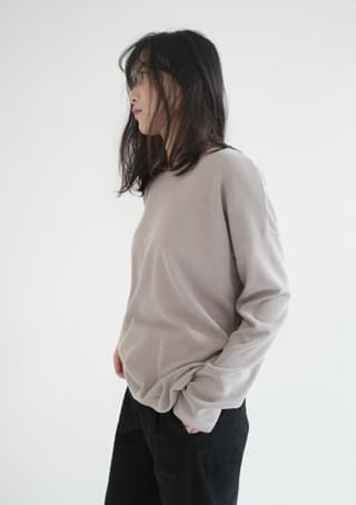lazy round knit top