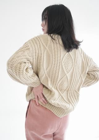 wearable twist knit top