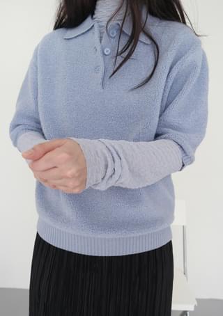 collar half knit