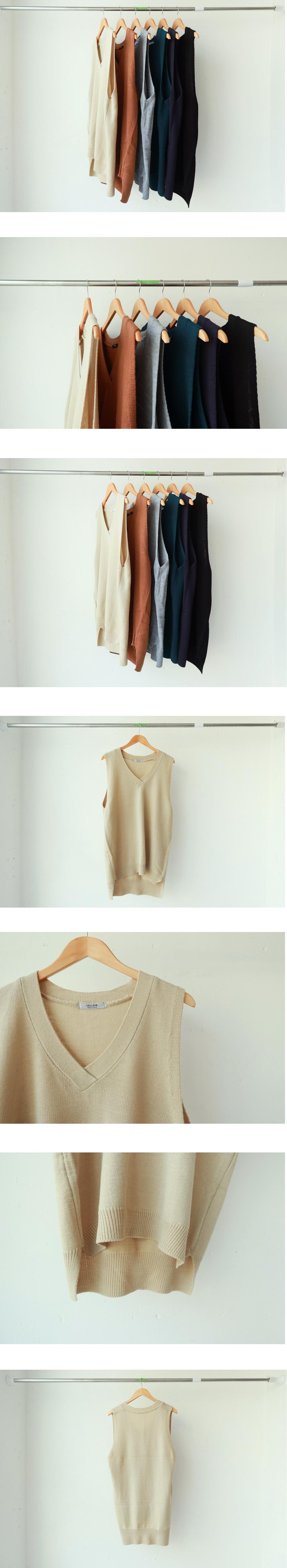 V neck vest knit dress