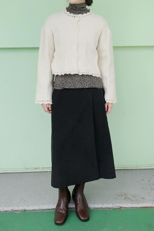 lace detail knit cardigan (4colors)
