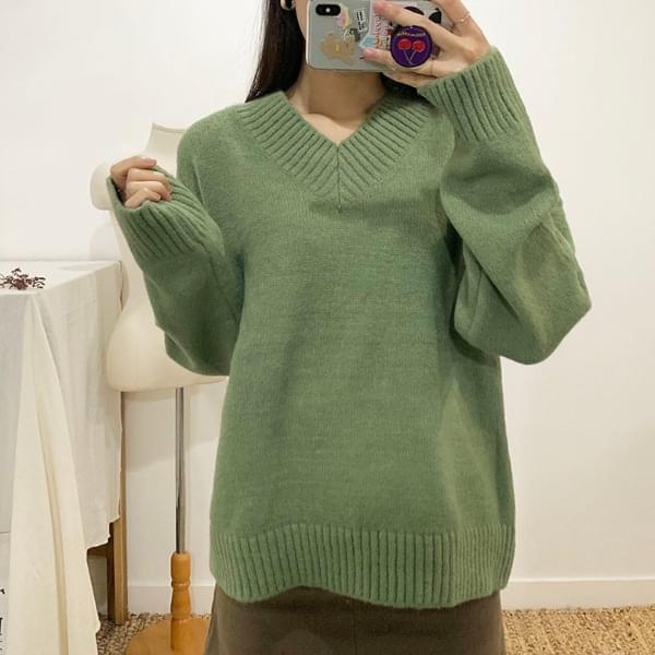 Basel V-neck knit