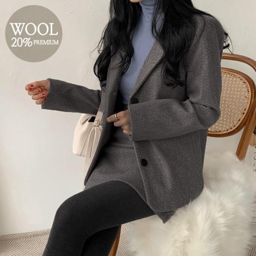 Lattezan Check Wool Jacket