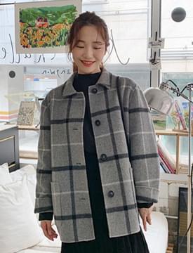 Bence check handmade jacket_C (울 90%) (size : free)