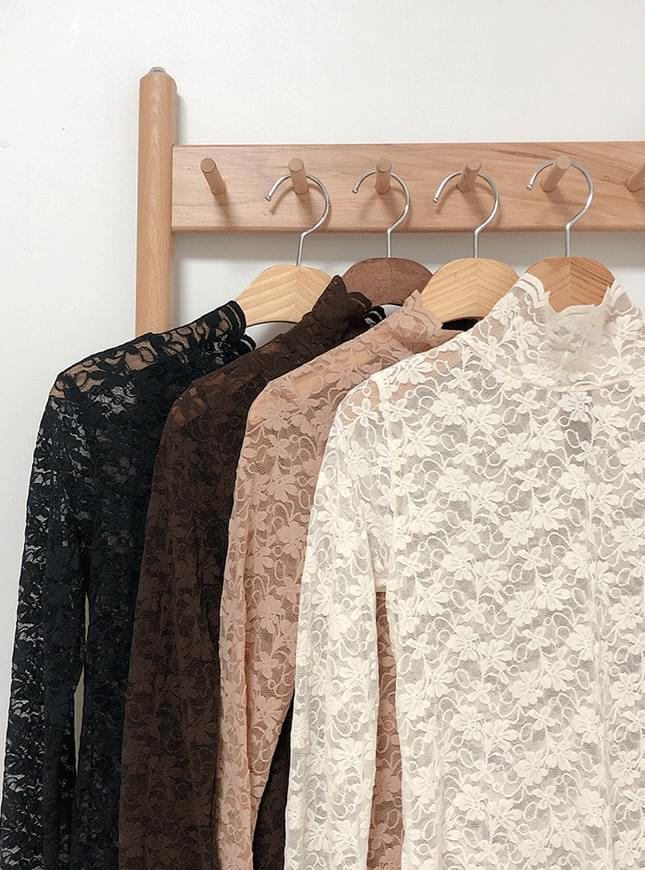 Herbal See-through Lace Blouse 襯衫