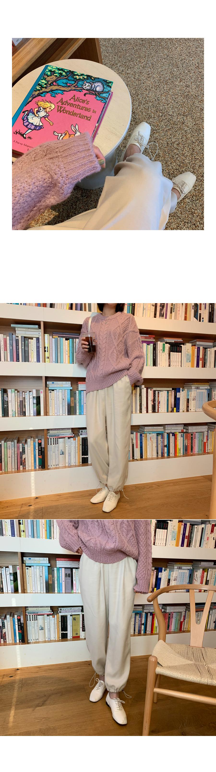 Alpaca fisher knit