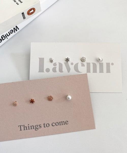 (silver925) flower earring set
