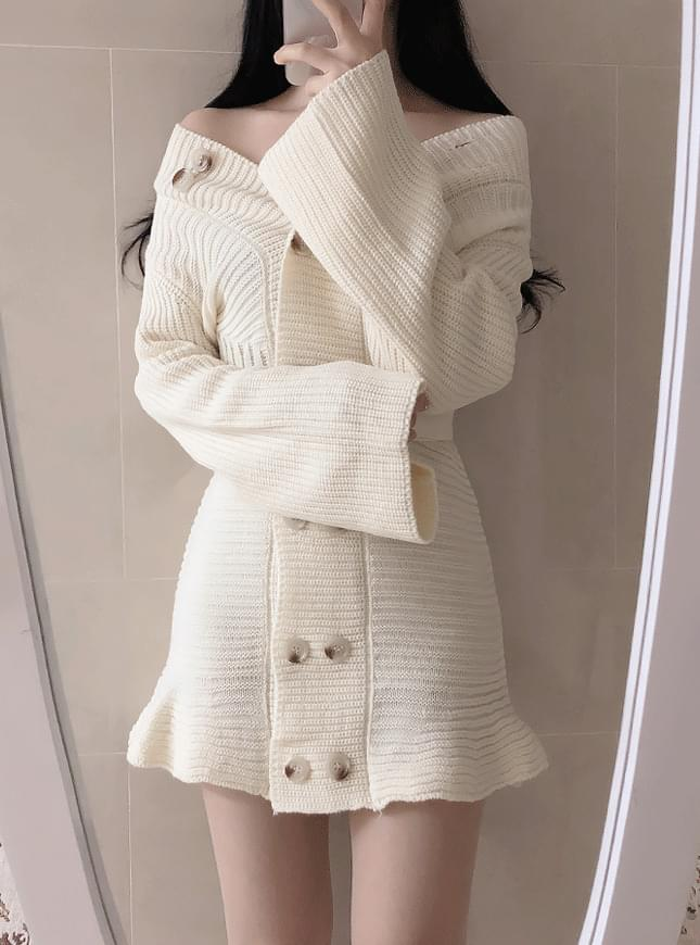 Belt set ♥ Tilda button knit dress
