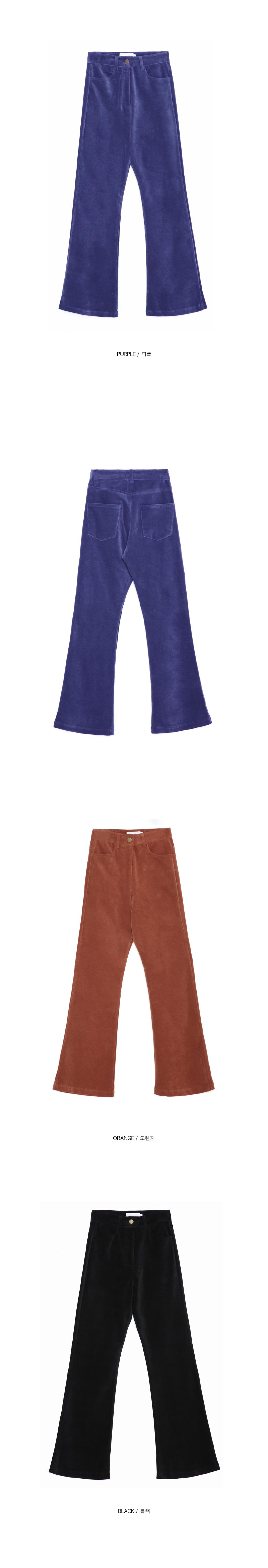 color velvet boots-cut pants - woman