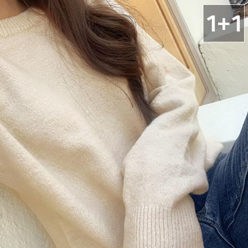 Dot soft double round knit 1 + 1 針織衫
