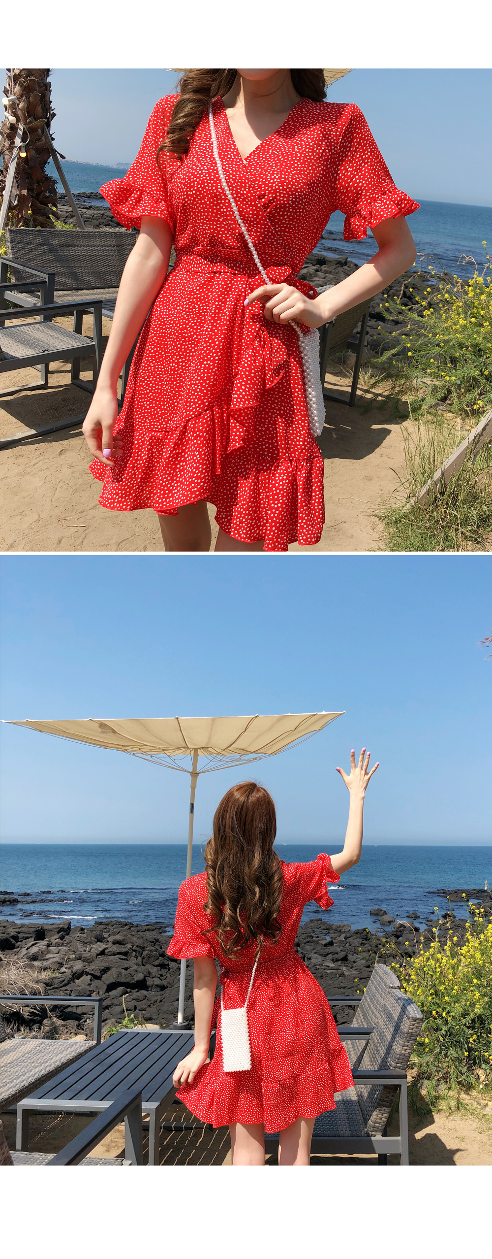 Frilly lapdot dress