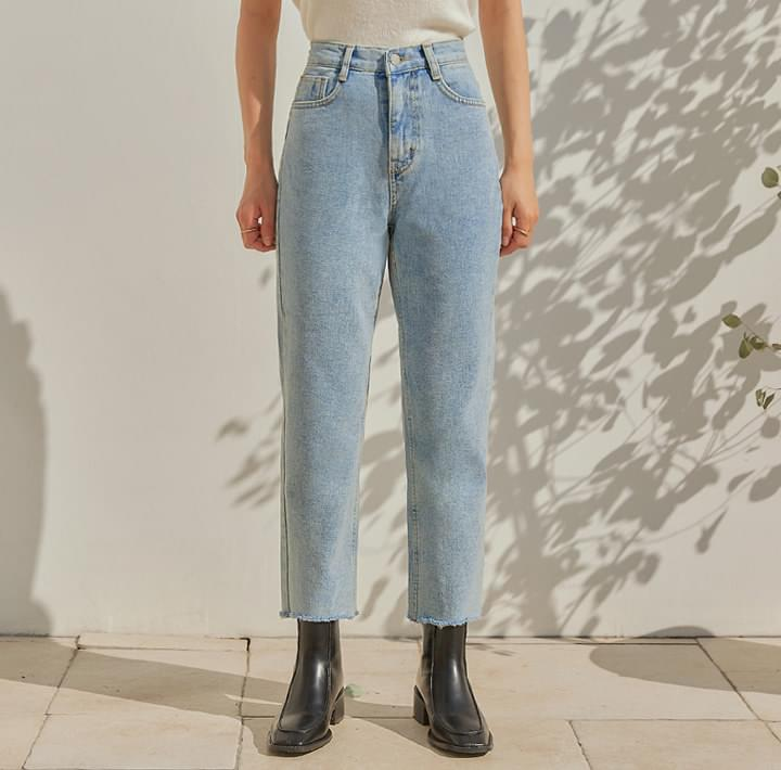 F/W DOU CUTTING DENIM PANTS