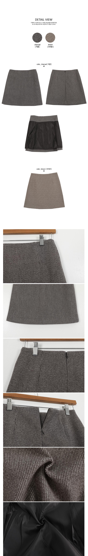 Lattezan Check Wool Skirt