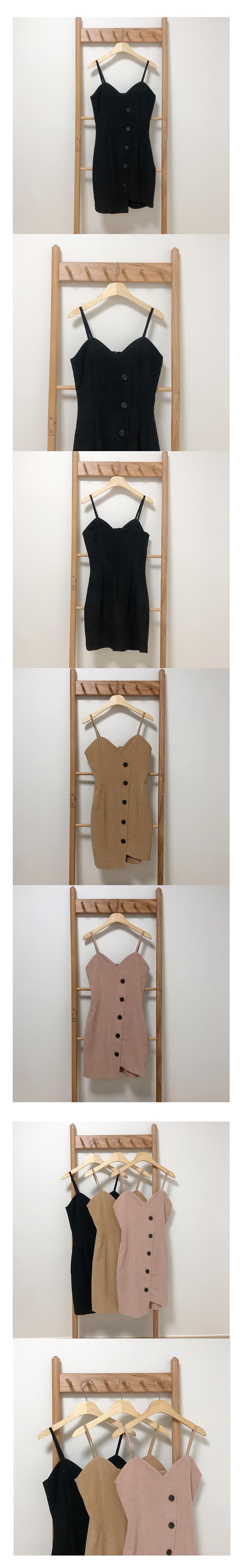 Strap-on button dress