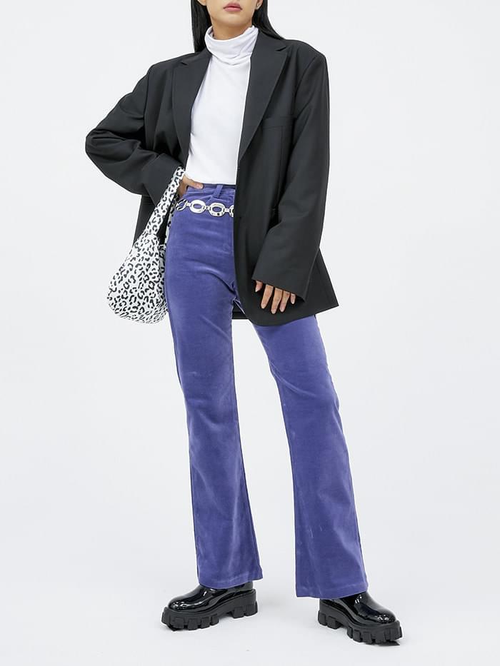 color velvet boots-cut pants (3 color) - woman