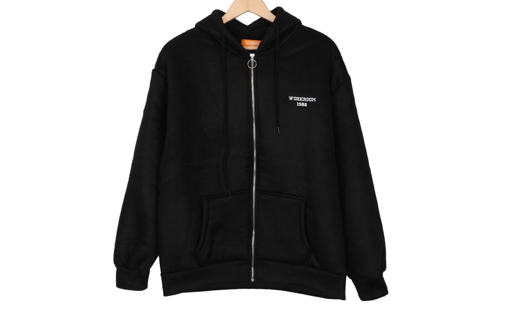 Work duplex hood zip up