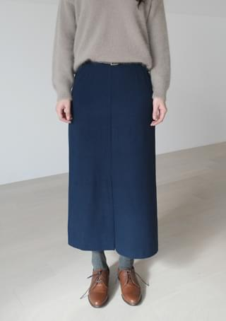 calm wool H-line skirt