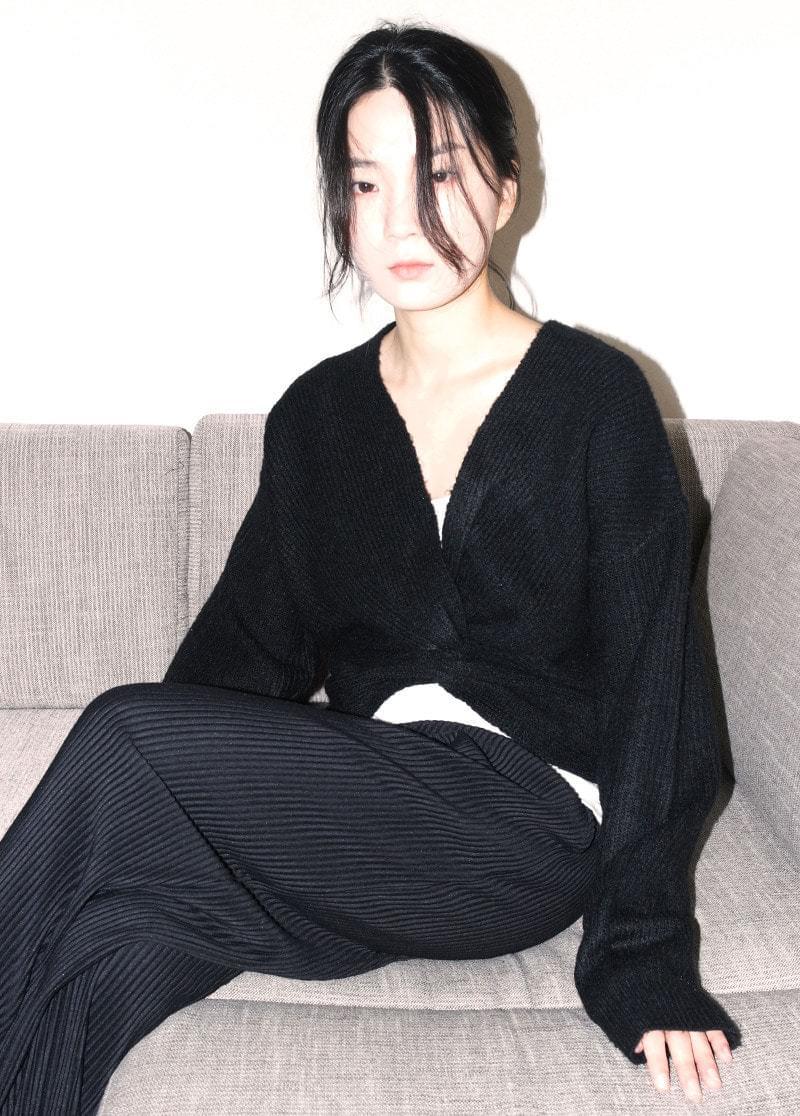 Reversible cross knit