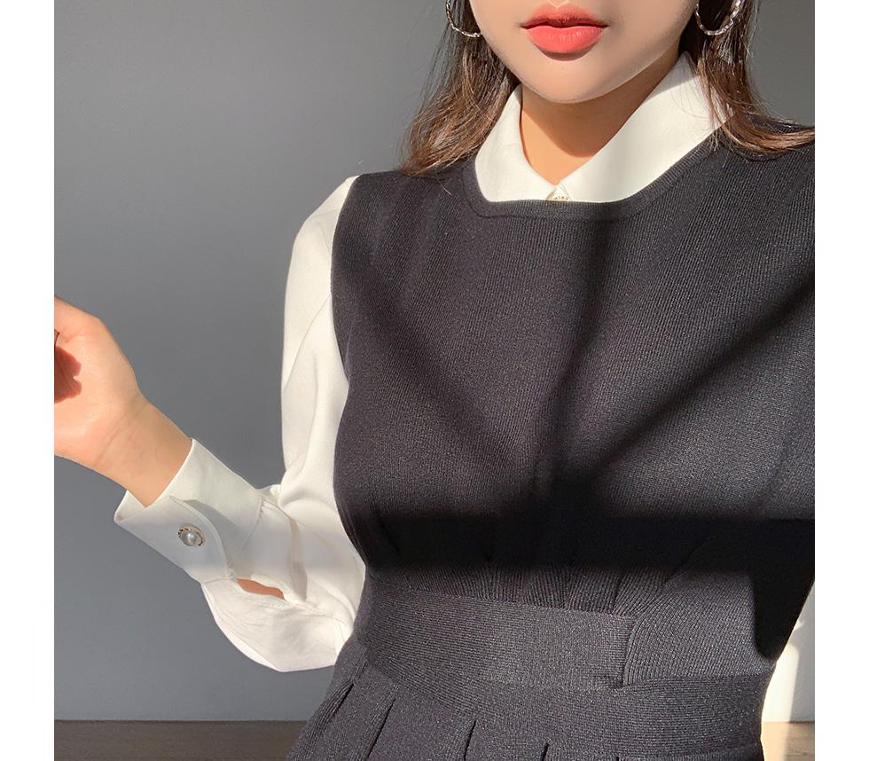 Knit Pin Tuck Dress