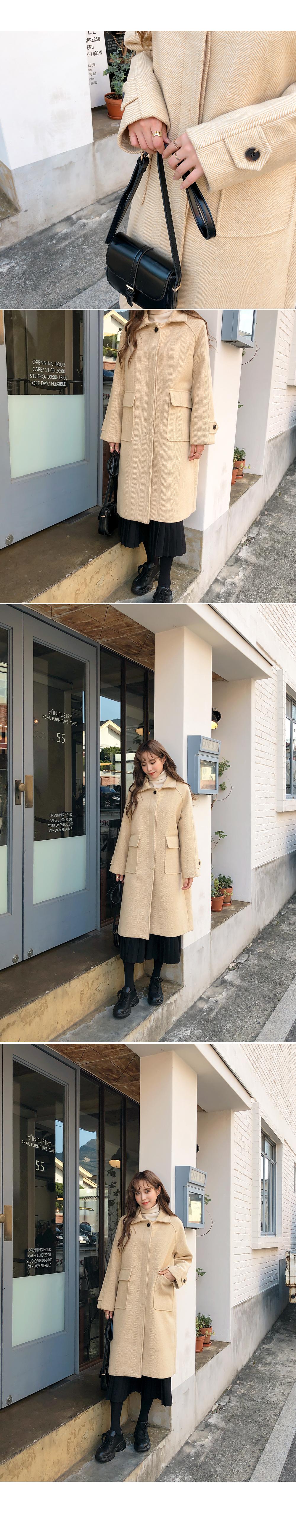 Bright herringbone coat