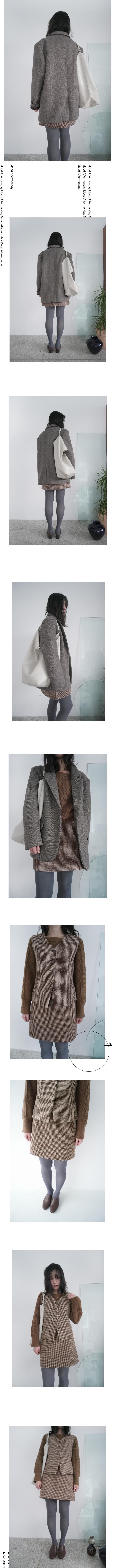 wool plaid set - vest (2colors)