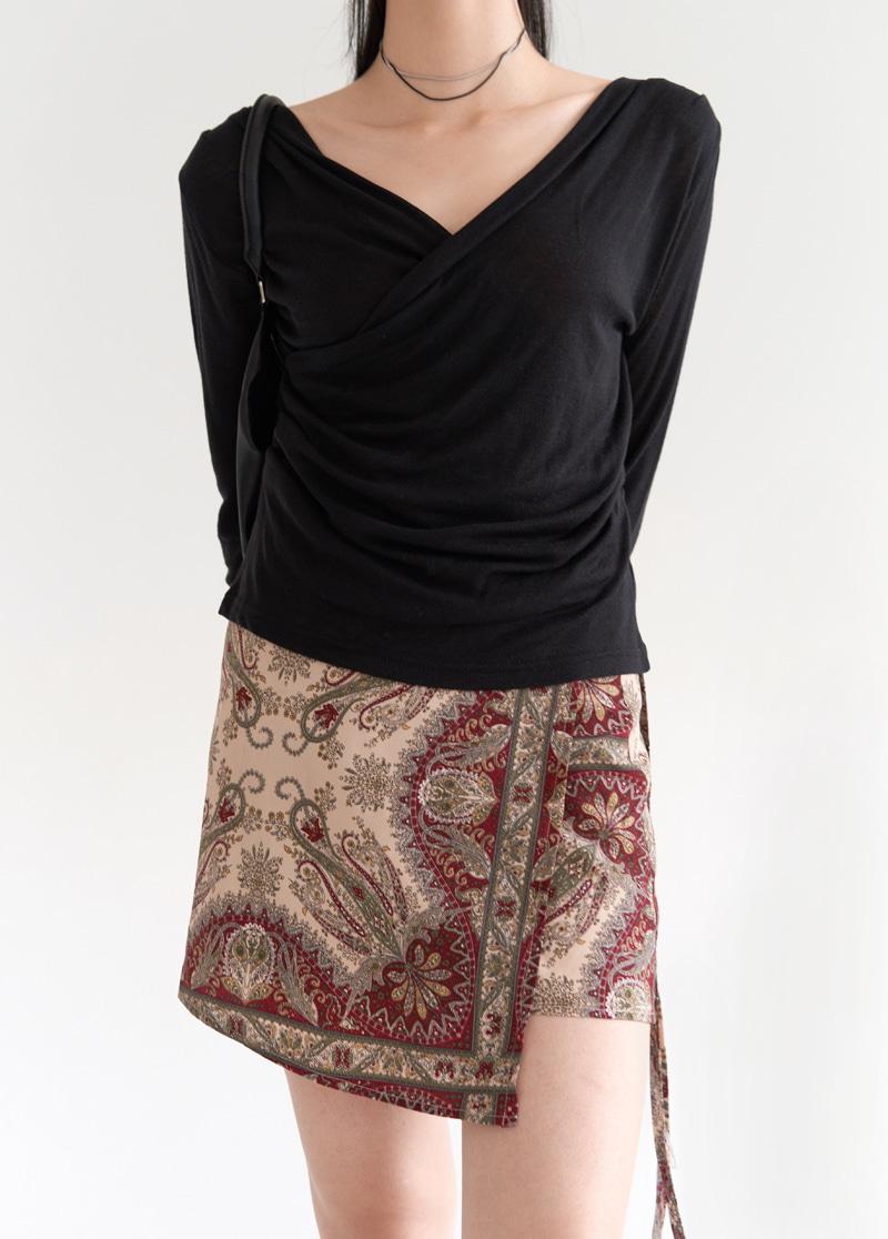 Bohemian wrap skirt