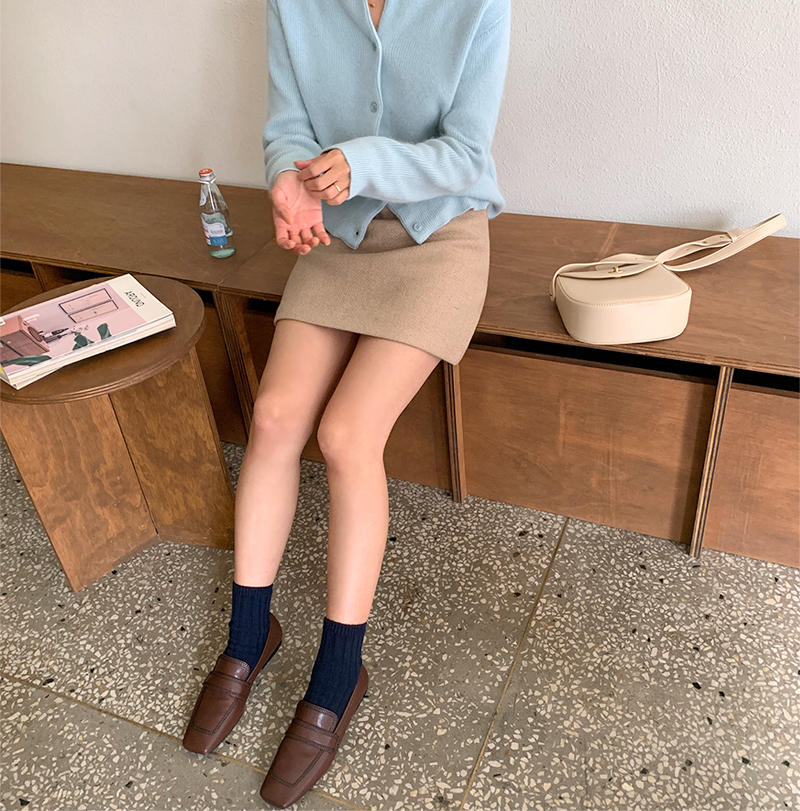 Brownie wool mini skirt_J (size : S,M)