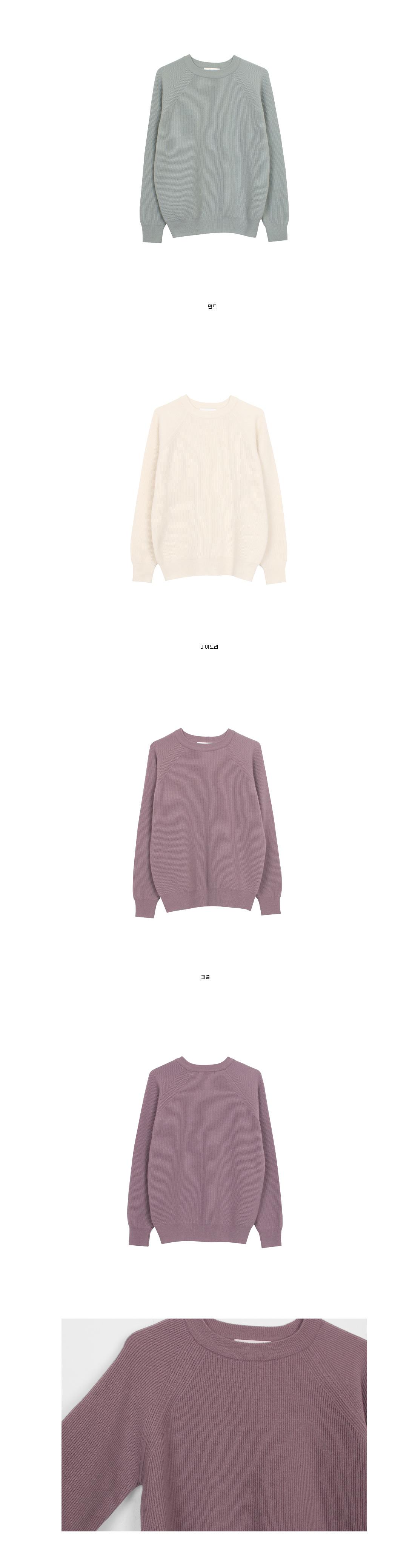 Raglan golgi knit