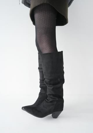 wave long boots (2colors)