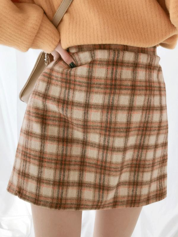 Irene check skirt