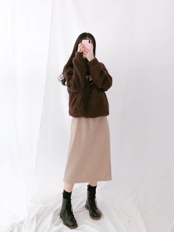 Modern Dotom Ribbed Skirt