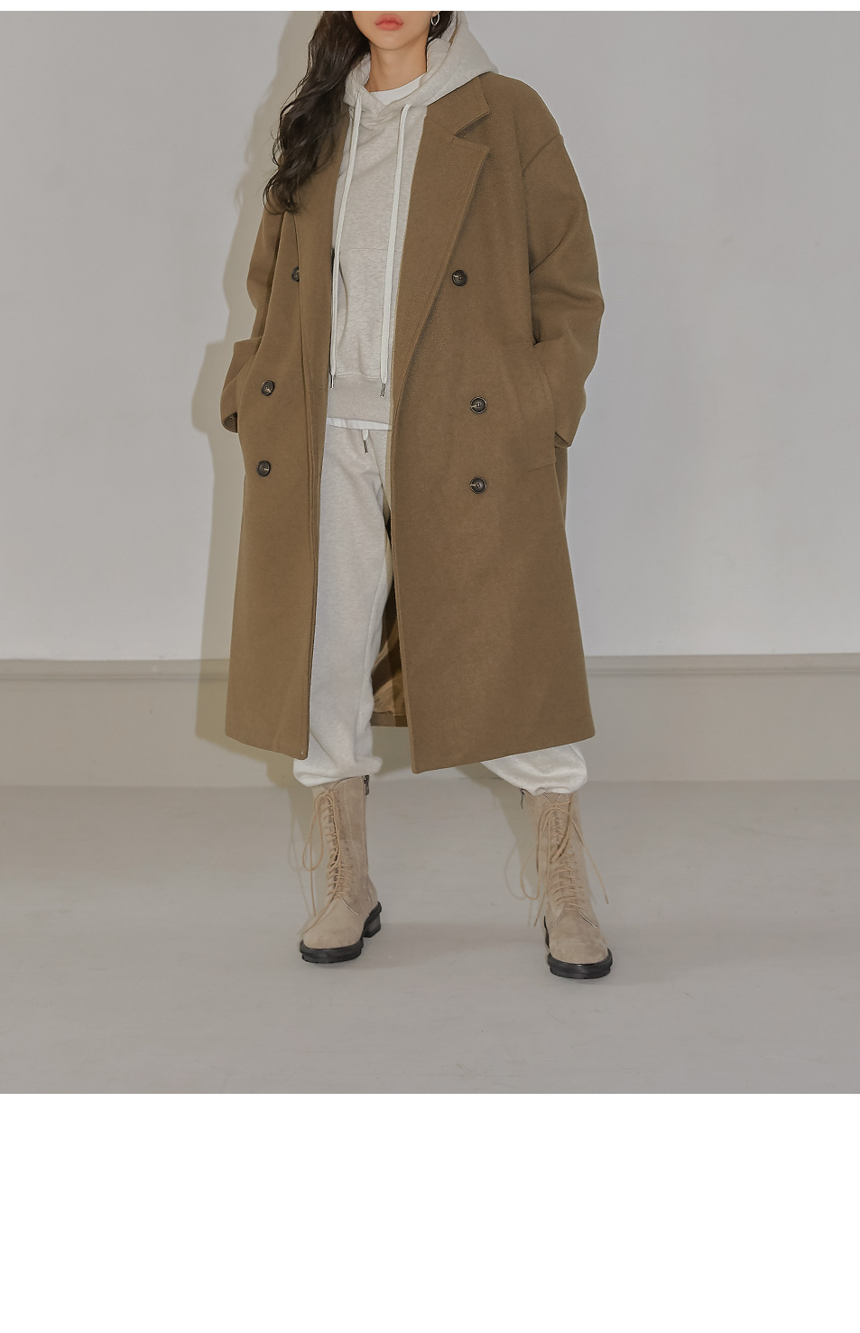 ROYVE OVER FIT DOUDLE LONG COAT