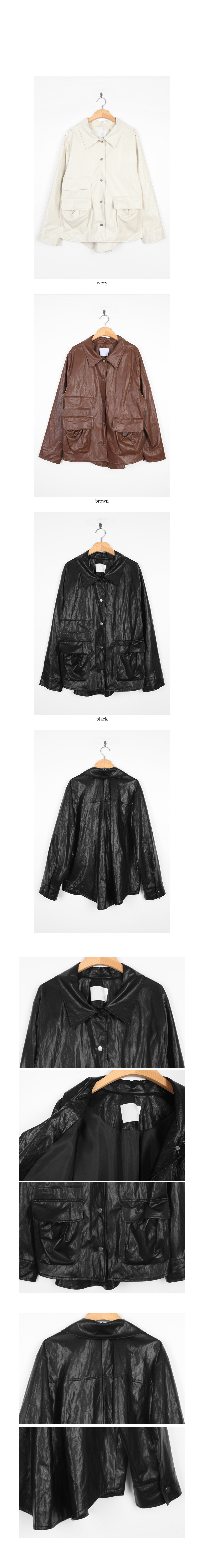 glossy maxi rider jacket