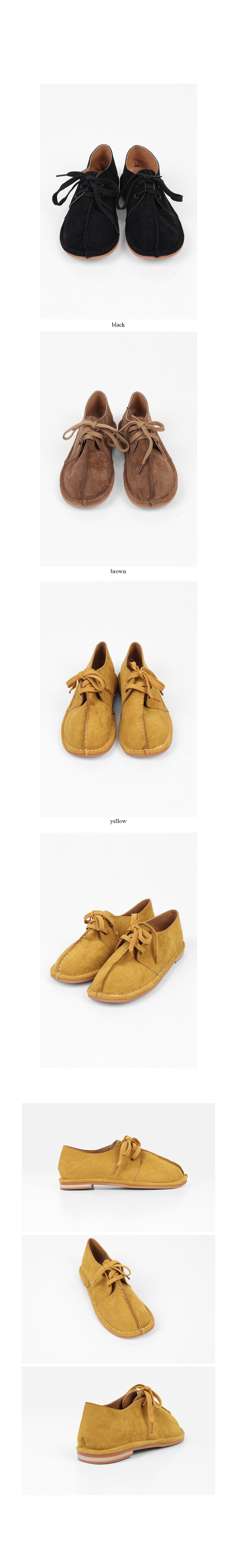 suede cutting detail shoes