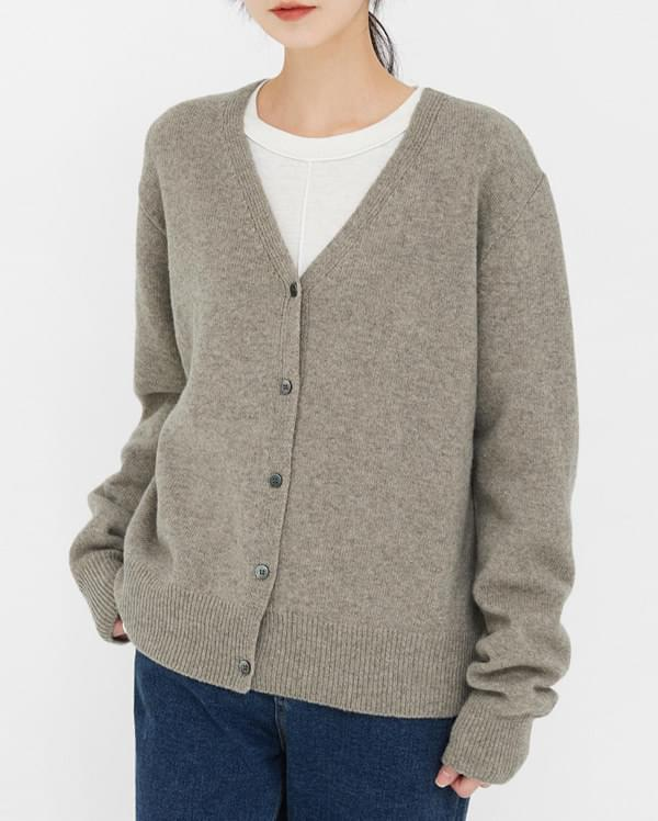love wool v-neck cardigan