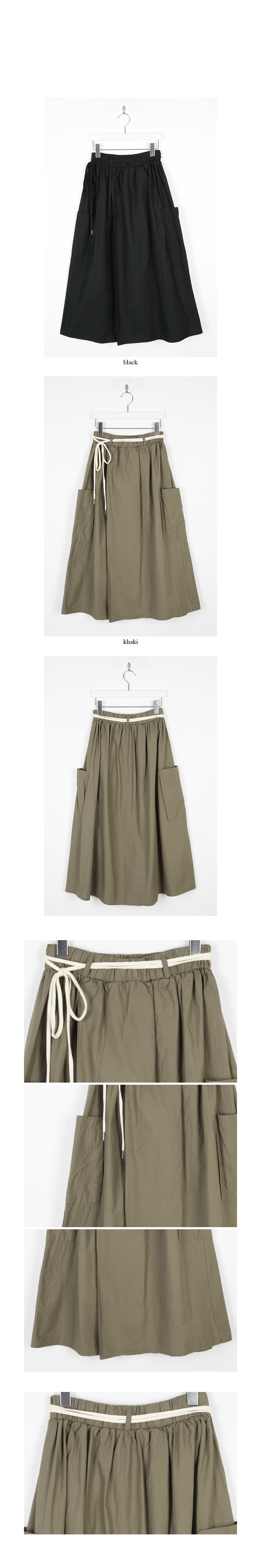 wrap pocket detail skirts