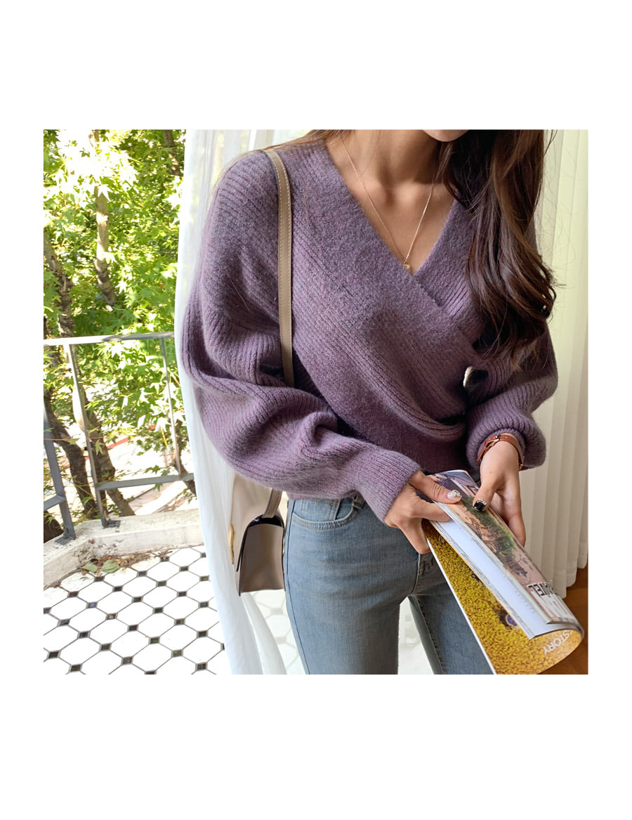 Soft unloading silhouette knit