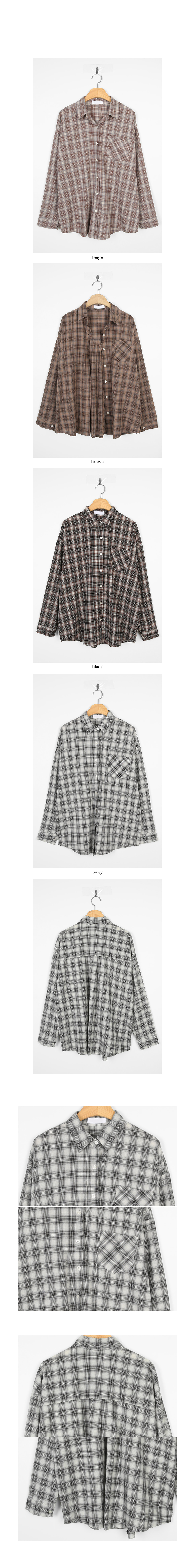 cozy check loose shirts