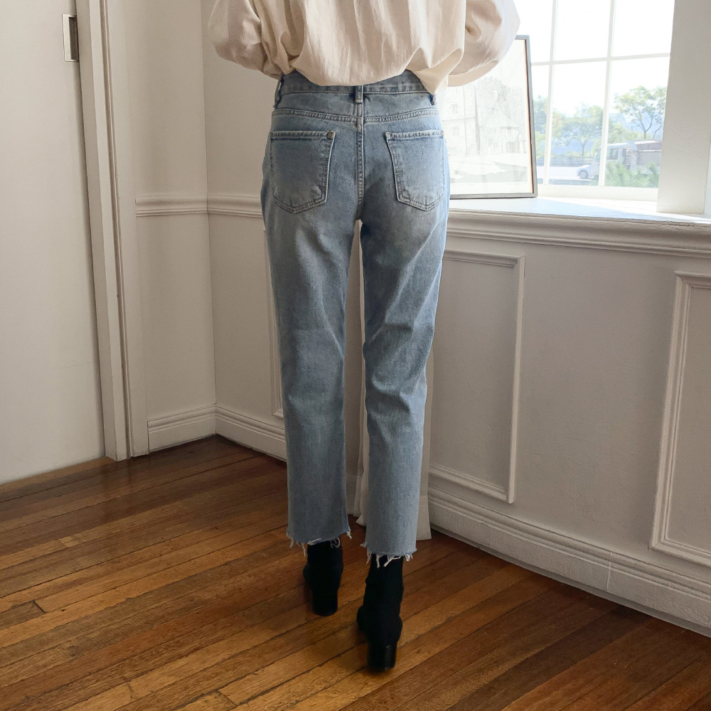 Vintage Washed Brushed Jeans-pt