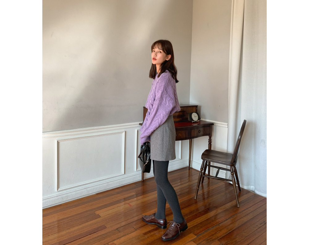 A-line Check Mini Skirt-sk