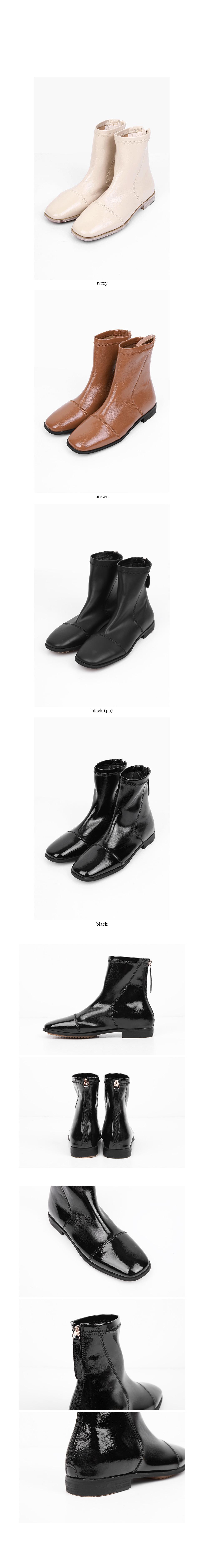 back zipper chic boots